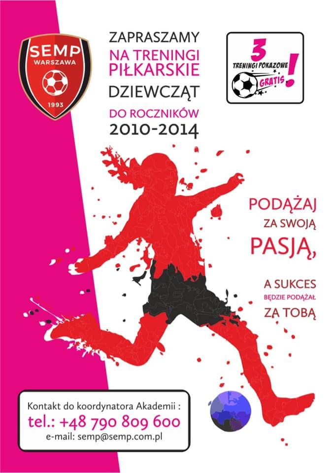 treningi piłkarskie dziewcząt