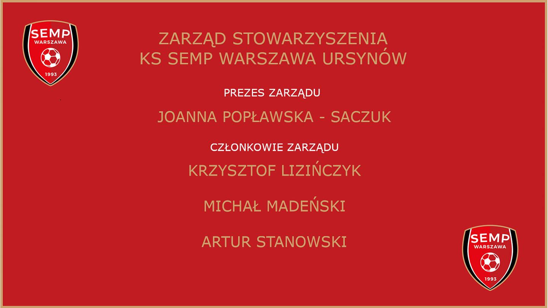 Zarząd KS SEMP Warszawa 2021